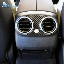 Airspeed Carbon Fiber Car Rear AC Outlet Frame Back Seat Air Vent Covers for Mercedes Benz C Class W205 GLC Car-styling