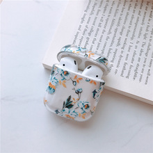 Buy For AirPods Case Flower Transparent Clear Hard Plastic Wireless Bluetooth Earphone Cases For Apple Airpods 2 Cover Funda Fashion directly from merchant!