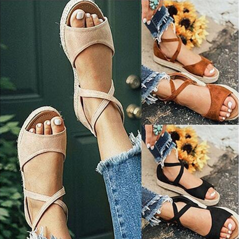 HTB1Dwv2binrK1Rjy1Xcq6yeDVXa9 LAAMEI 2019 New Women Sandals Fashion Peep Toe  Design Roman Sandals Women Flat Shoes Summer Beach Ladies Shoes Sandals