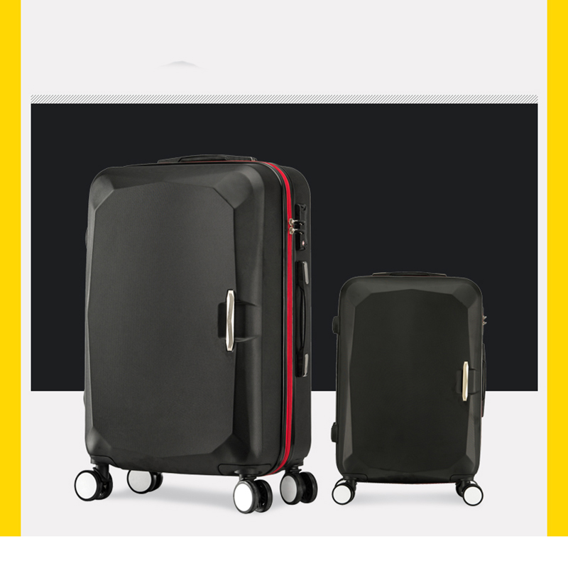 LeTrend Women Korea Rolling Luggage Spinner Suitcase Wheels Student Trolley 20 inch Carry On Travel Bag password Box