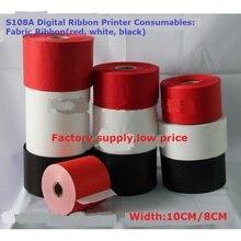 Cinta de tela (rojo, blanco, negro) Diferentes Colores para la Impresora Digital de La Cinta 8 cm * 100 m