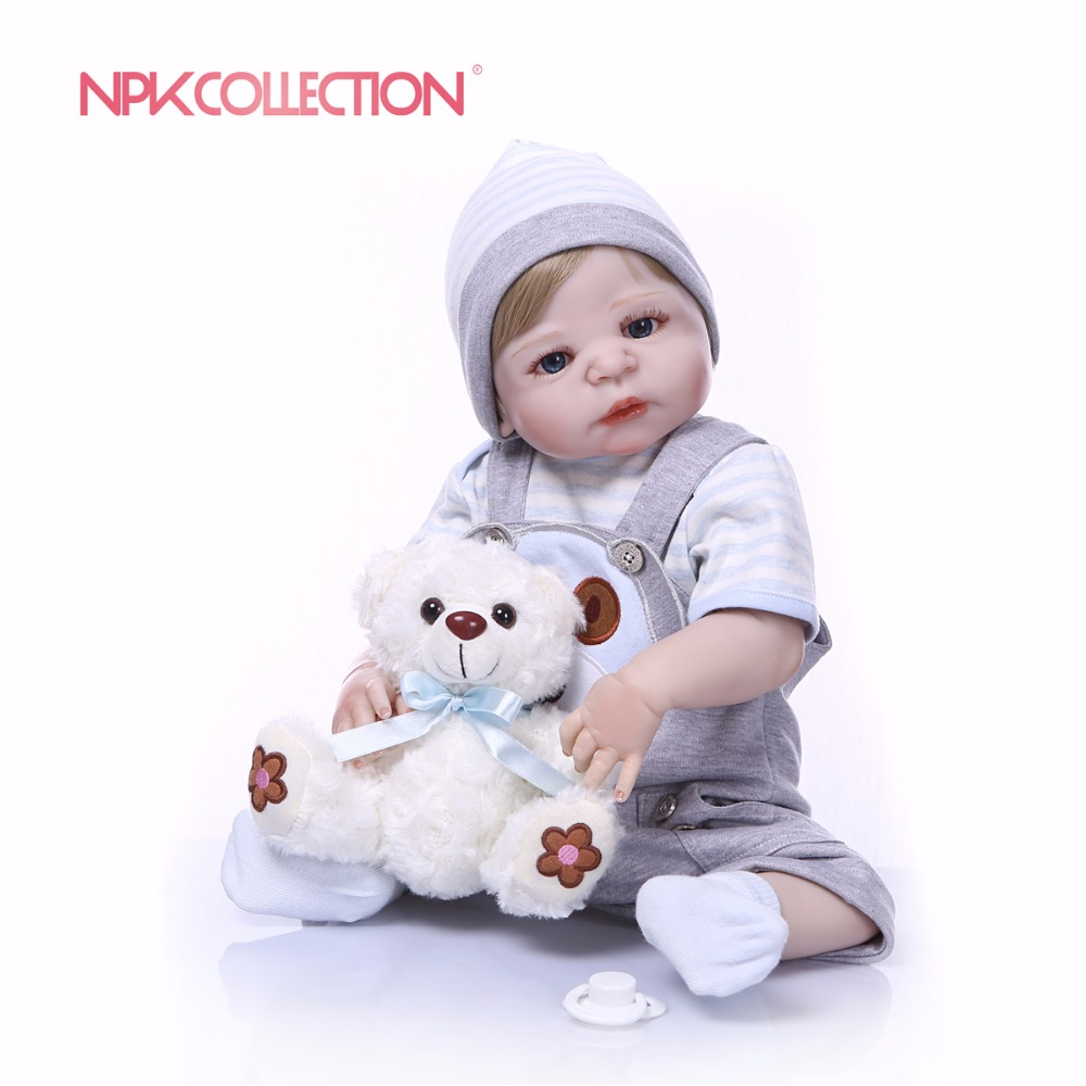 NPKCOLLECTION Full Silicone Body Girl Reborn Doll Alive Baby puppy Toys Lifelike Princess Xmas Fashion Doll Bebes Reborn Menina-in Dolls from Toys & Hobbies    2