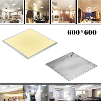 2 uds Panel de luz LED cuadrado lámpara de techo 600X600 36W cálido frío blanco AC110-240V de marco de aluminio de la placa frontal de la lámpara LED