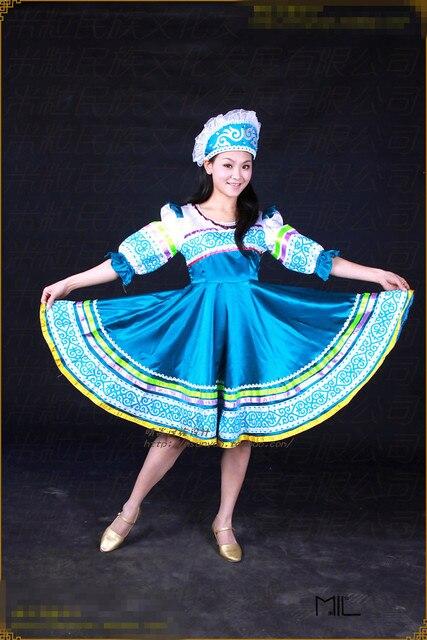 maxi nationale Traditionellen russischen kleid kostüm kleider frauen VpzMSGqU
