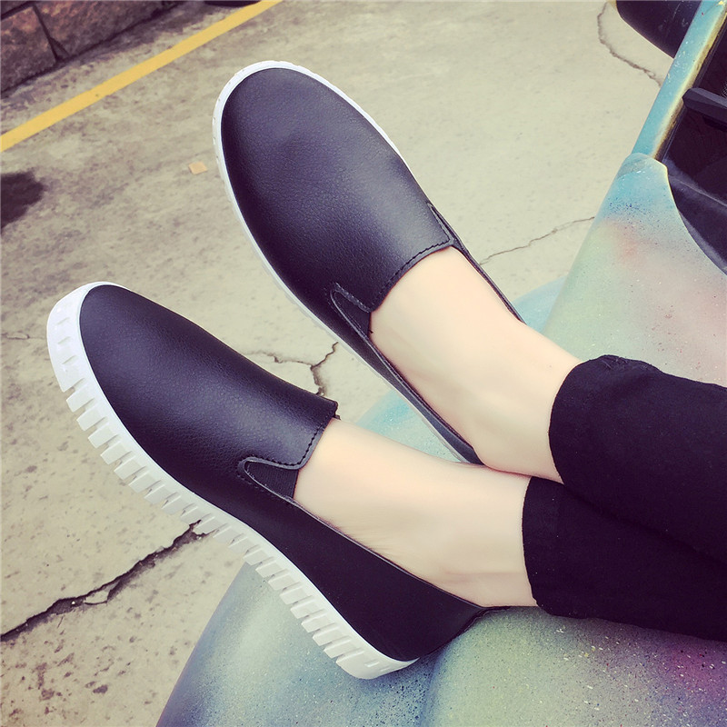Hot 2017 PU Leather shoes Women Flats Shoe Fashion Casual Slip On Soft Loafers Spring Autumn Female Driving Shoes Wholesale 2017 autumn fashion men pu shoes slip on black shoes casual loafers mens moccasins soft shoes male walking flats pu footwear