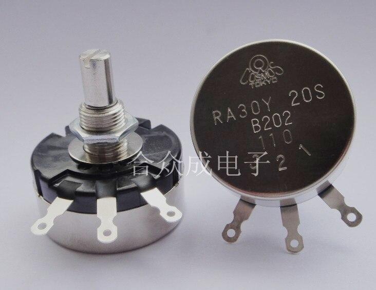 [VK] TOCOS RA30 RA30Y RA30Y20S RA30Y20SB103 10K однооборотный проволочный переключатель потенциометра