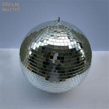 Bolas de espejo grandes para luces, Bola de discoteca giratoria, D40cm x 40cm, 15,7 pulgadas, con motor eléctrico gratuito para DJ, bodas, Eevent
