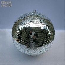 Boule de disco rotative avec moteur électrique gratuit, grande boule à miroir de 15.7 pouces, d40 cm x 40cm, pour DJ lights et Eevent de mariage