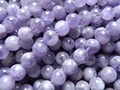 Wholesale Miracle Natural Lavender Amethyst 10mm Smooth Round European Beads
