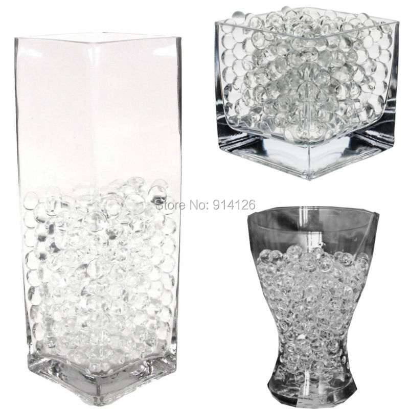 Clear Vase With Beads