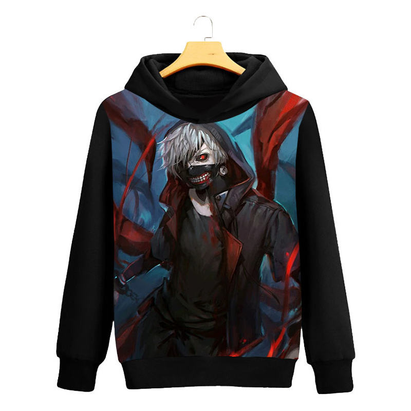 Tokyo Ghoul Cosplay Hoodie Ken Kaneki 3D Printed Casual Long Sleeve Men Spring Hip hop clothing Tops Luxtees (2)