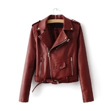 2019 Lika Rulla New Spring Fashion Good Quality Ladies Basic Street Women Short PU Leather Jacket
