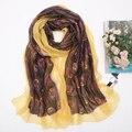 2016 новый мори девушка женская осенью и зимой павлина кулон двойной слой шелковый шарф мыс