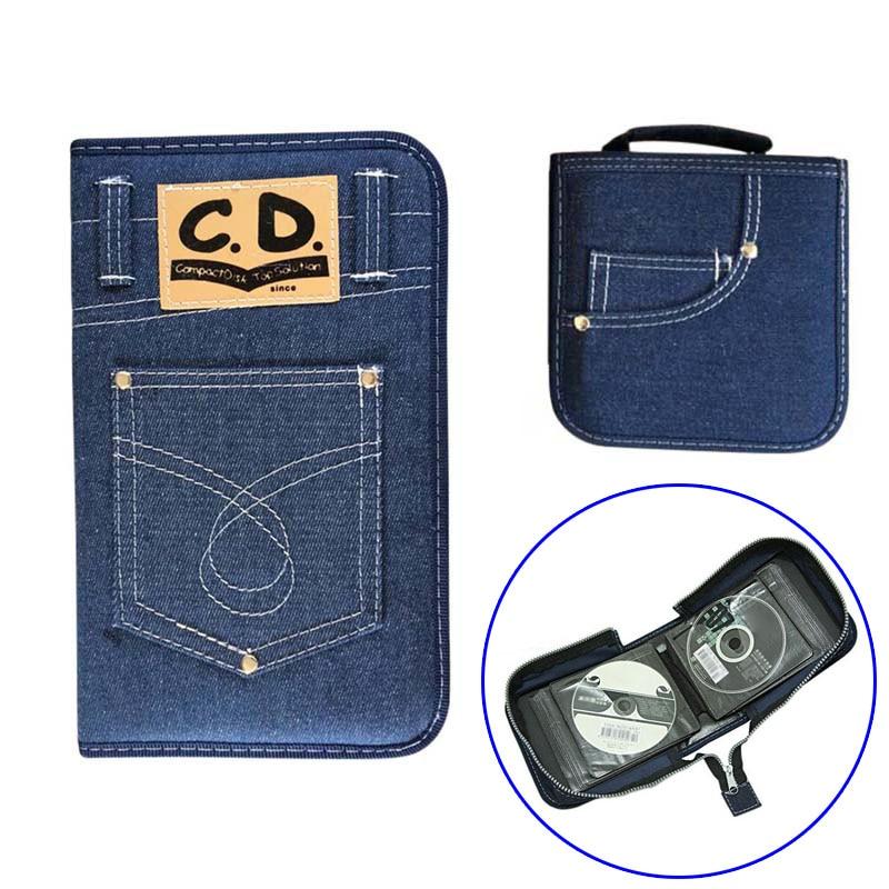 60/128Pcs Disc Storage Case Wallet Portable CD DVD Holder Bag 2018ing