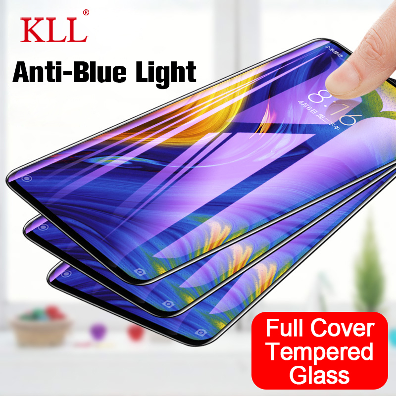 Anti Blue Light Tempered Glass For Xiaomi Mix 3 2 2S A2 Lite Full Cover Screen Protector For Pocophone F1Redmi Note 5 Pro 6 Pro