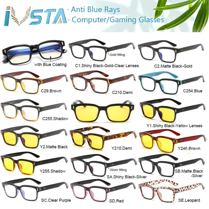 IVSTA dengan Kasus kartu uji cahaya Kacamata Komputer Kacamata Anti - Aksesori pakaian - Foto 4