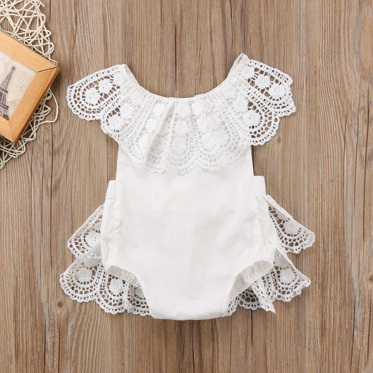 46a3abd28db2 0-24M Newborn Toddler Baby Girl Princess Lace Romper Easter Costume for  baby girl 2018