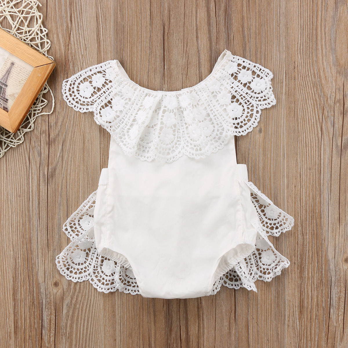 0-24M Newborn Toddler Baby Girl Princess Lace Romper Easter Costume for baby girl 2018 Cute Baby Birthday Clothes white jumpsuit