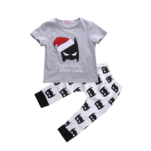 US $6 12 |Aliexpress com : Buy Tops T shirts Cotton Cute Animals Pants 2pcs  Clothes Set Newborn Kids Baby Boy Girls Clothing Christmas Outfits from