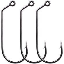 50 шт. Высокое качество джиг большая серия рыболовный крюк Mustad офсетный джиг рыболовный крючок морской окунь крючки для Червяков Карп рыболовные снасти