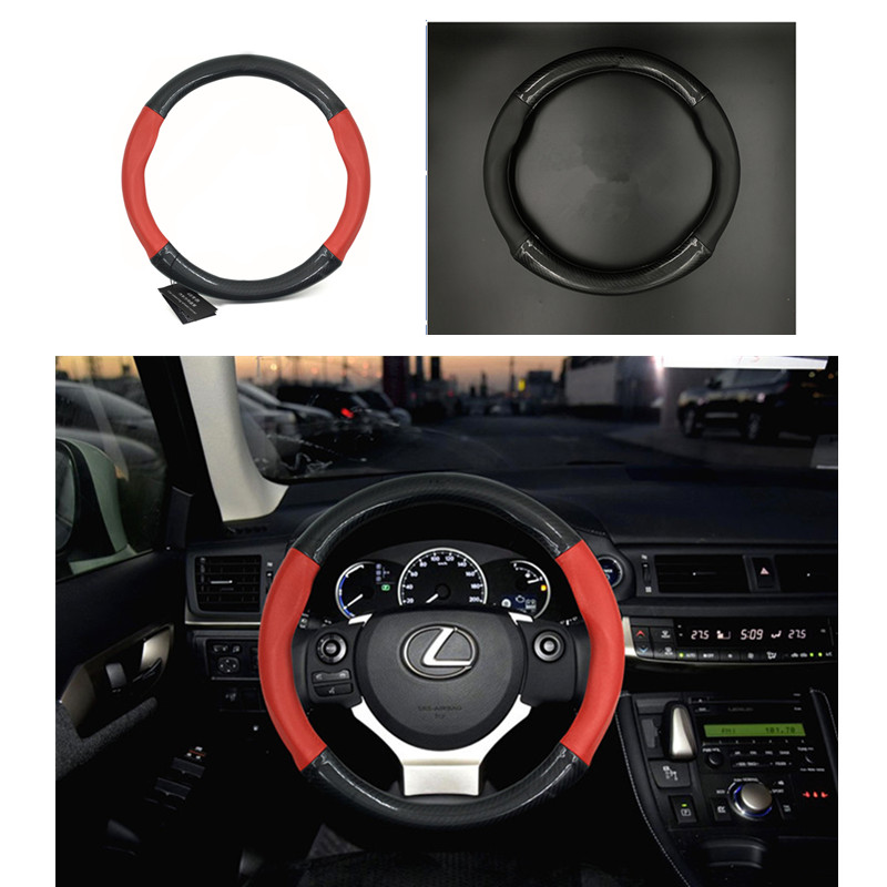 carbon sport leather pvc steering wheel cover for lexus gs rx330 rx300 is300 es250 is460 is200 nx200t etc. 38cm accessories