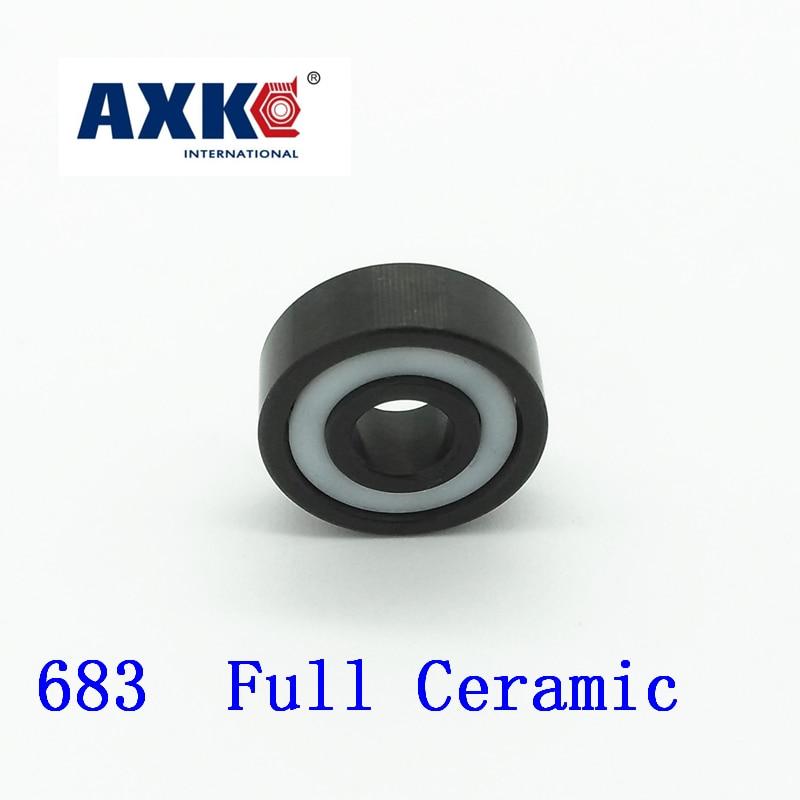 Axk 683 Full Ceramic Si3n4 3x7x2 3mm/7mm/2mm Si3n4 Ceramic Ball Bearing 693 full ceramic si3n4 3x8x3 mm 1 pc 3mm 8mm 3mm si3n4 ceramic ball bearing