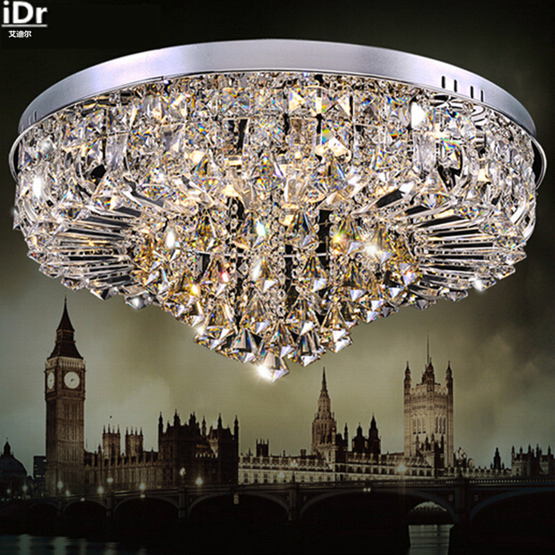 Factory Whole Luxury High End Lighting Fixtures Crystal Led Modern Living Room Ceiling Lights Rmy 090 In From