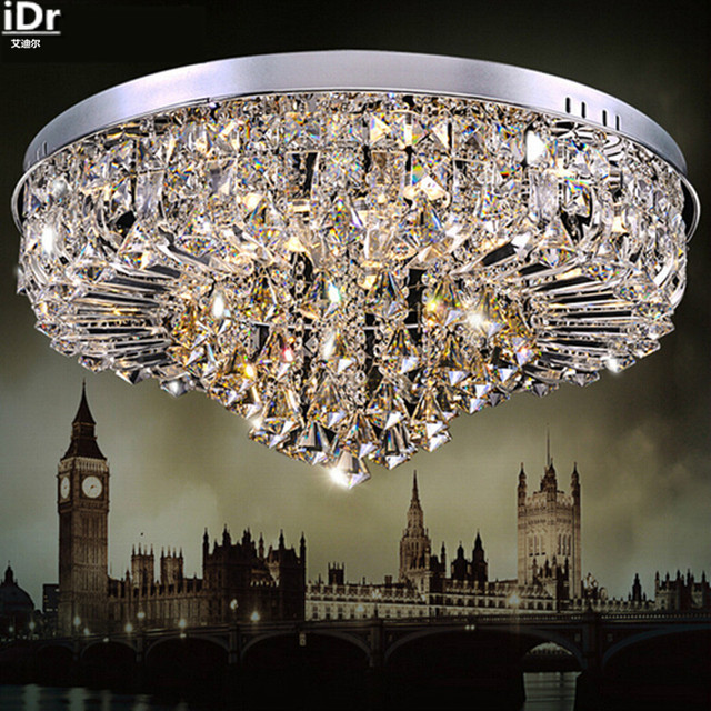 factory wholesale luxury high end lighting fixtures wholesale crystal led modern living room ceiling lights rmy 090