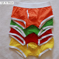 LAD Men Male Underwear Men's Boxer Underwear Sexy Solid Cotton Man Underwear Boxer 4color S M L XL addicted Underpants