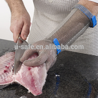 15cm Spring Chain Mail Glove Stainless Steel Mesh Glove Cutting Proof For Meat Processing Chicken Used