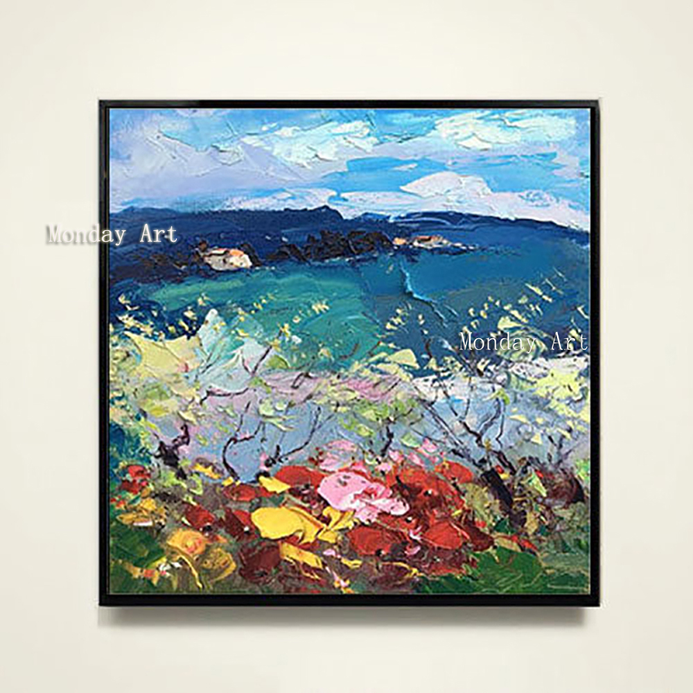 100-Hand-Painted-Abstract-Colorful-Scenery-Painting-On-Canvas-Wall-Art-Wall-Adornment-Picture-Painting-For (3)