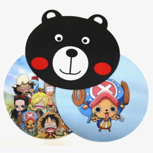 Cute Luffy and Chopper Round Mouse Pad