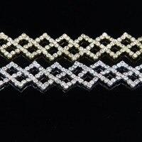 5Yards Crystal Rhinestone Trims Cup Claw Chain Jewelry Crafts