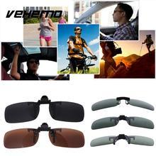 Vehemo Polarized Lenses Flip Up Clip On for Sunglasses UV400 Glasses Outdoor Driving