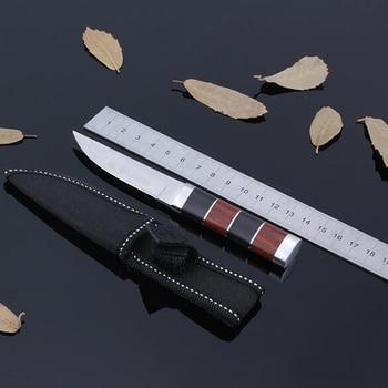 Cuchillo de caza de hoja fija cuchillo de supervivencia Faca Coltello Navajas...