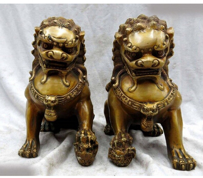 Copper Brass CHINESE crafts decor ation Asian  8  China bronze de cobre guarda par escultura Foo Dogs Lions Copper Brass CHINESE crafts decor ation Asian  8  China bronze de cobre guarda par escultura Foo Dogs Lions