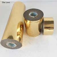 She Love 1Roll/lot 120cm Light Gold Hot Stamping Foil Paper PVC heat Transfer Foil Film Paper Diy Crafts