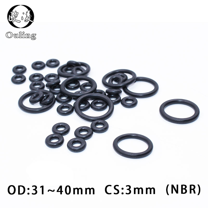 10 Pcs Automobile 65mm x 3mm Hole Sealing NBR O Rings Gaskets Washers