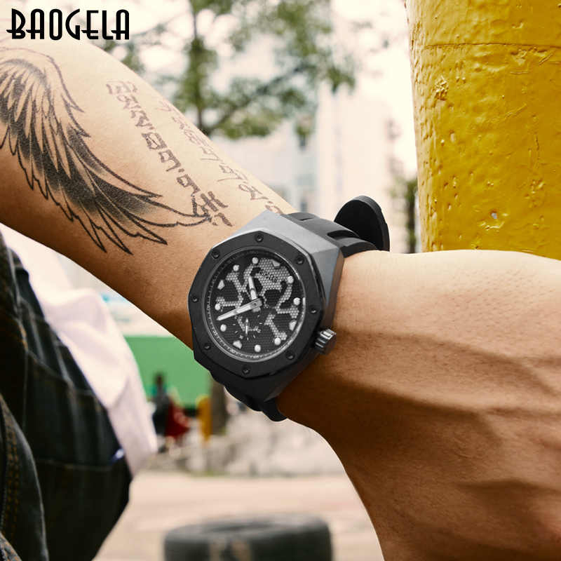 BAOGELA Men's Military Sports Army Quartz Watches Luxury Top Brand Wristwatch Man Relogios Mascuinos Clock Luminous dial 1901