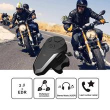 BT-S3 Pro Motorcycle Intercom Earphone Helmet Wireless Bluetooth Intercomunicador Headphone Waterproof FM Interphone Headset все цены