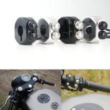 CNC Momentary Latching Switch Aluminium Alloy Switch Motorcycle Cafe Race Handle Grips Reset Buttons For Honda Yamaha Suzuki цена