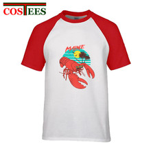 256e50430bb5e1 2018 hot sale new arrival Hotline Miami Maine Lobster with sunglasses T  shirt men cool man