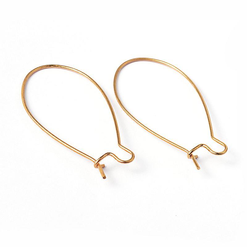 Brass Hoop Earrings Components Kidney Ear Wires, Lead Free and ...