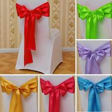 Hot Sale Banquet Chair Back Cover Bow Sash Wider Bows Wedding Party Festival Supplies Drop Shipping # 0612(China)