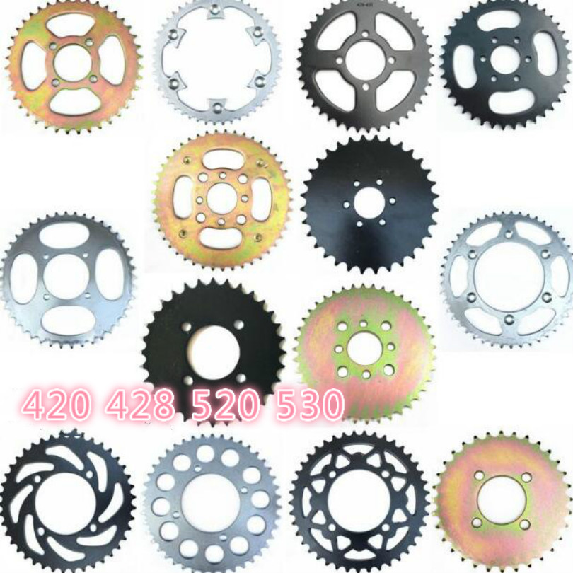 HONGLIANGYANG motorcycle scooter drive gear 530 520 420 428 big <font><b>sprocket</b></font> 32T 37T 41T <font><b>48T</b></font> 40T 43T 60T <font><b>sprockets</b></font> free shipping image