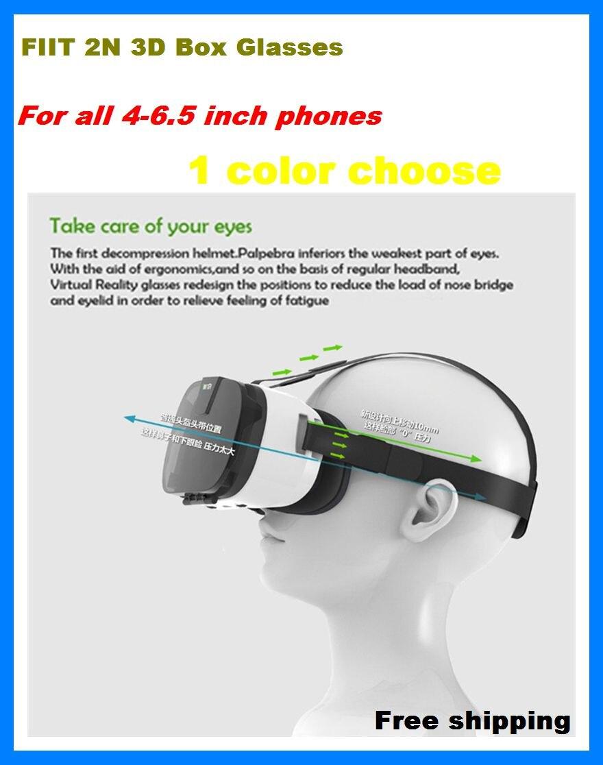 Fiit 2N font b VR b font Cardboard 3D Glasses for Samsung Virtual Reality Headset vrbox