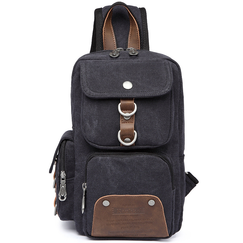KAUKKO Casual Women/Men's Chest Bag for Travel Canvas Sling Bag Multifunctional Small Male Crossbody Bags Fashion Shoulder Bags augur 2018 men chest bag pack functional canvas messenger bags small chest sling bag for male travel vintage crossbody bag