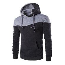 Männer Trainingsanzug Hombre Hip Hop-männer Marke Hoodie Dekorative Tasche Sweatshirt Anzug Slim Fit Männer Hoody