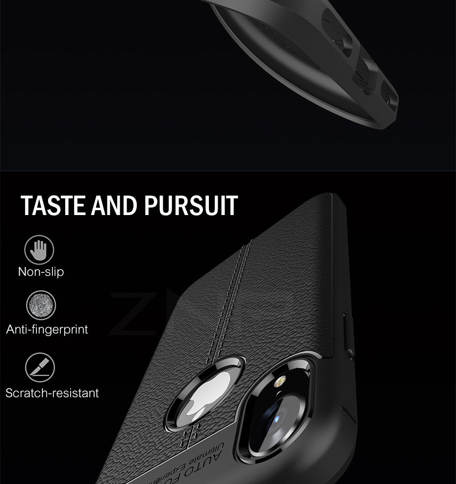 HTB1DwzCXijrK1RjSsplq6xHmVXaB - ZNP Luxury Shockproof Matte Cover For iPhone 6 7 8 Plus 6s Case Leather Carbon Fiber Leather For iPhone X XR XS Max Phone Case