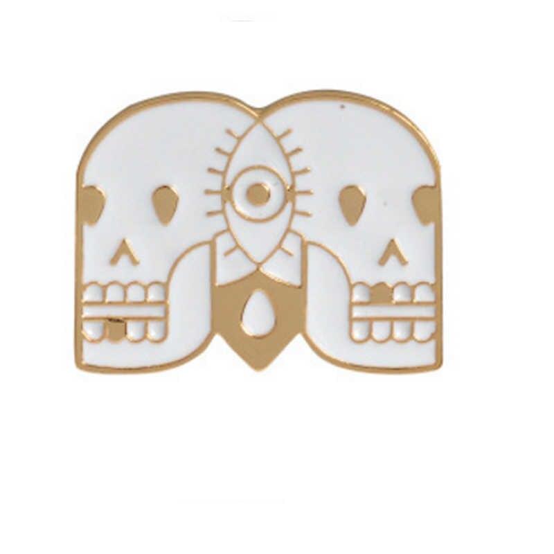 LNRRABC kreatywna czaszka lalka Totem dziewczyna Cartoon kobiety broszki Denim ubrania odznaka szpilki przycisk biżuteryjny prezent delikatna broszka